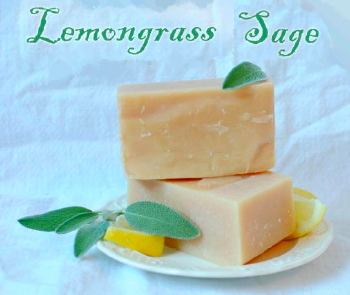 Lemongrass-Sage Goat Milk Soap